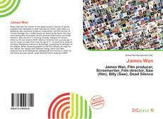 Capa do livro de James Wan