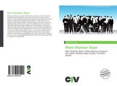 Bookcover of Mani Shankar Aiyar