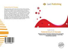 Bookcover of Federal Court of Canada