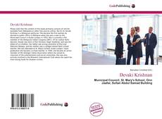 Bookcover of Devaki Krishnan