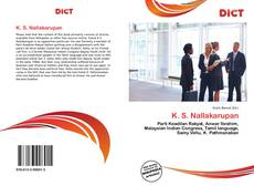 Bookcover of K. S. Nallakarupan