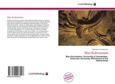 Capa do livro de Max Kohnstamm