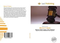 Bookcover of Marian P. Opala
