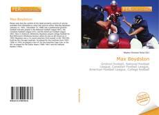 Portada del libro de Max Boydston