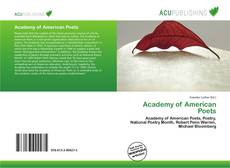 Bookcover of Academy of American Poets