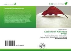 Portada del libro de Academy of American Poets