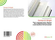 Bookcover of Carolyn D. Wright