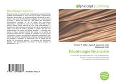 Déontologie Financière kitap kapağı