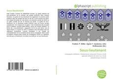 Sous-lieutenant kitap kapağı