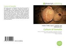 Buchcover von Culture of Somalia
