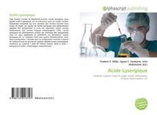 Portada del libro de Acide Lysergique