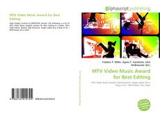 Bookcover of MTV Video Music Award for Best Editing