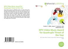 Capa do livro de MTV Video Music Award for Quadruple Threat of the Year