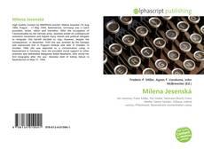 Milena Jesenská kitap kapağı
