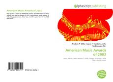 Bookcover of American Music Awards of 2002
