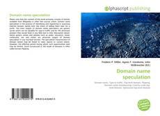 Buchcover von Domain name speculation
