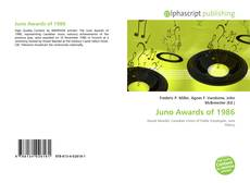 Bookcover of Juno Awards of 1986