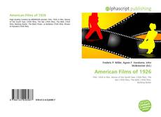 Bookcover of American Films of 1926