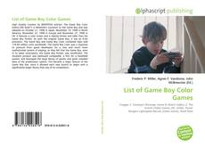 Bookcover of List of Game Boy Color Games