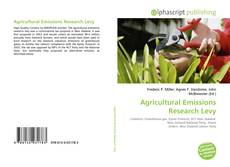 Agricultural Emissions Research Levy kitap kapağı
