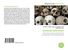 Bookcover of Genocide Definitions