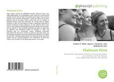 Bookcover of Platinum Print