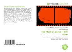 Portada del libro de The Mark of Zorro (1940 Film)