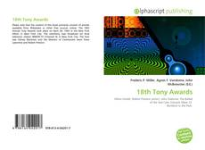 Portada del libro de 18th Tony Awards