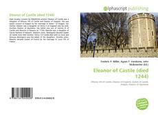Buchcover von Eleanor of Castile (died 1244)