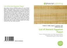 Обложка List of Ancient Egyptian Papyri