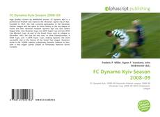 Bookcover of FC Dynamo Kyiv Season 2008–09