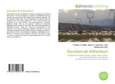 Borítókép a  Équation de d'Alembert - hoz
