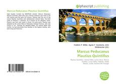 Bookcover of Marcus Peducaeus Plautius Quintillus