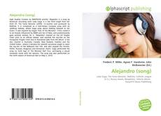 Bookcover of Alejandro (song)