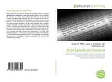 Capa do livro de First Epistle of Clement