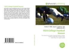 Bookcover of 1929 College Football Season