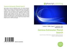 Обложка Geneva Extrasolar Planet Search