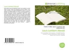 Couverture de Louis Lambert (Novel)
