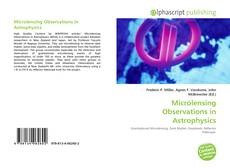 Bookcover of Microlensing Observations in Astrophysics