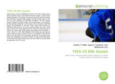 Bookcover of 1924–25 NHL Season