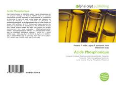 Buchcover von Acide Phosphorique