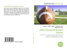 Portada del libro de 2007 Cleveland Browns Season