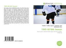 Portada del libro de 1965–66 NHL Season