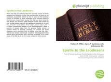 Capa do livro de Epistle to the Laodiceans