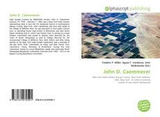 Bookcover of John D. Caemmerer