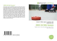 Portada del libro de 2003–04 NHL Season