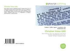 Copertina di Christian Voice (UK)