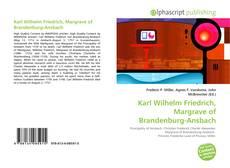 Buchcover von Karl Wilhelm Friedrich, Margrave of Brandenburg-Ansbach