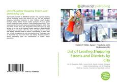 Copertina di List of Leading Shopping Streets and Districts by City