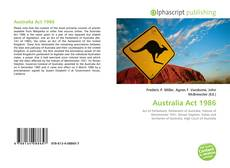 Bookcover of Australia Act 1986